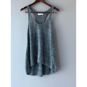 🔴 5 for $25 Gills  Hicks knit grey tank top